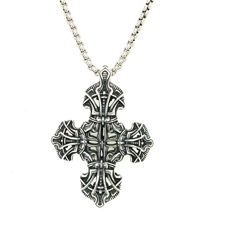 """William Henry TRANQUILITY - SILVER CROSS & 22"""" CHAIN P54 S"""