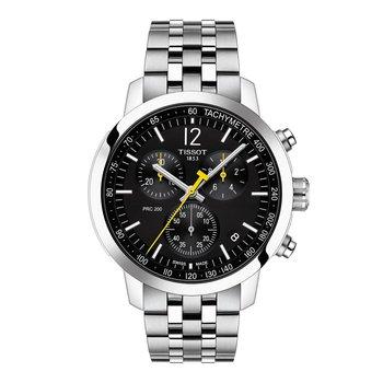 T1144171105700 Men's PRC 200 Chronograph Date Bracelet Strap Watch, Silver/Black