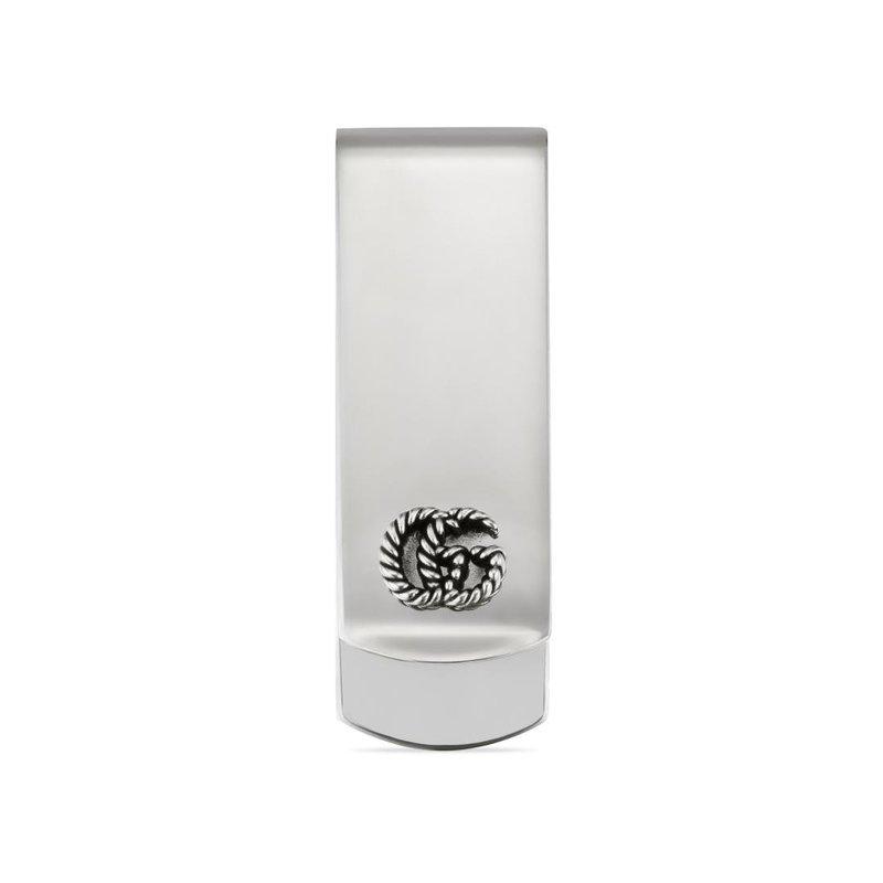 Gucci Money clip in silver GG Marmont
