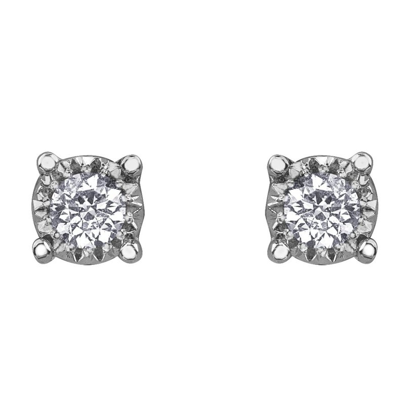 Ashley .05 carat Small Diamond Stud Earrings