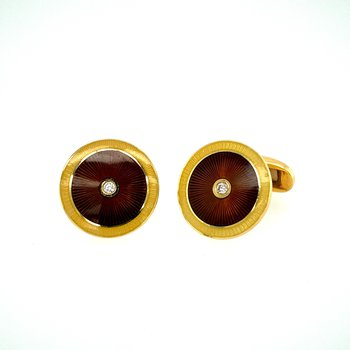 Faberge Enamelled Cufflinks