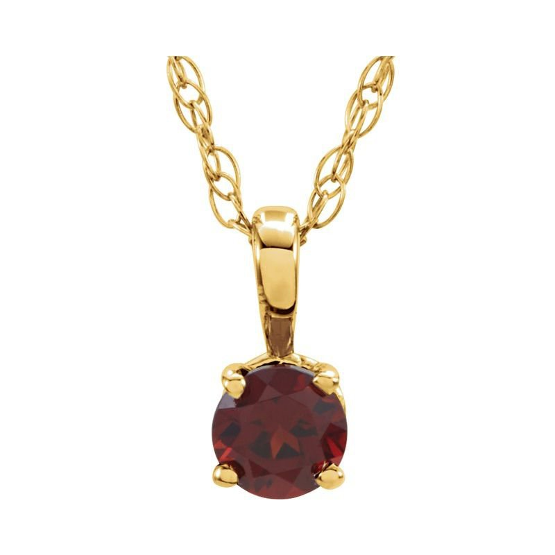 Ashley Children's Necklace - January Birthstone