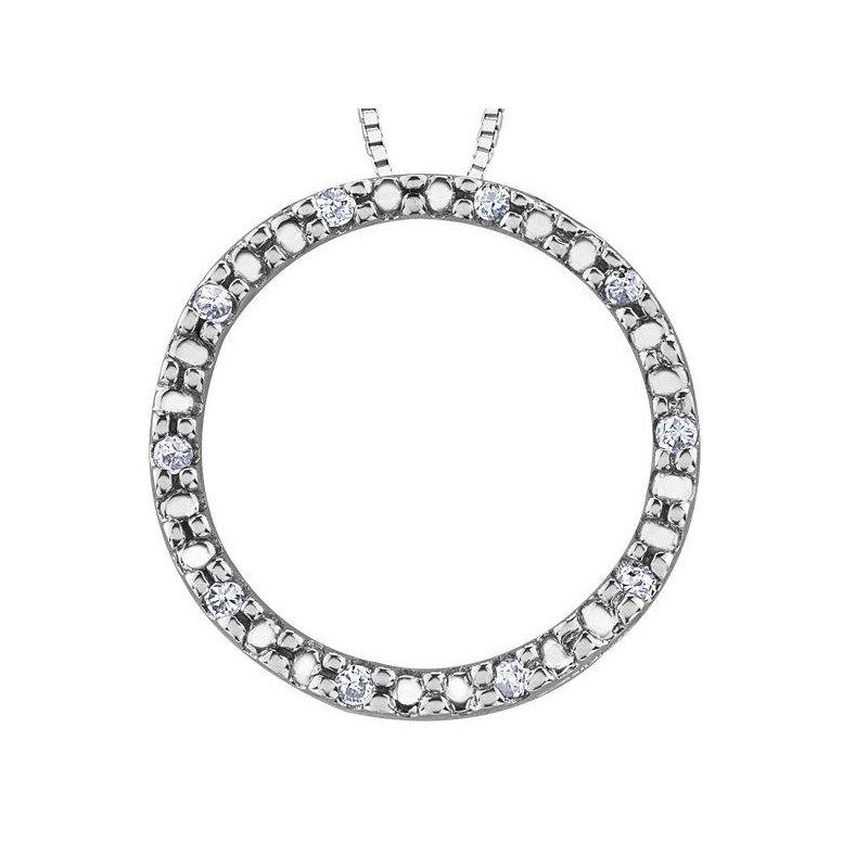 Ashley Diamond Circle Necklace