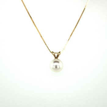 Pearl Drop Necklace 6.5mm