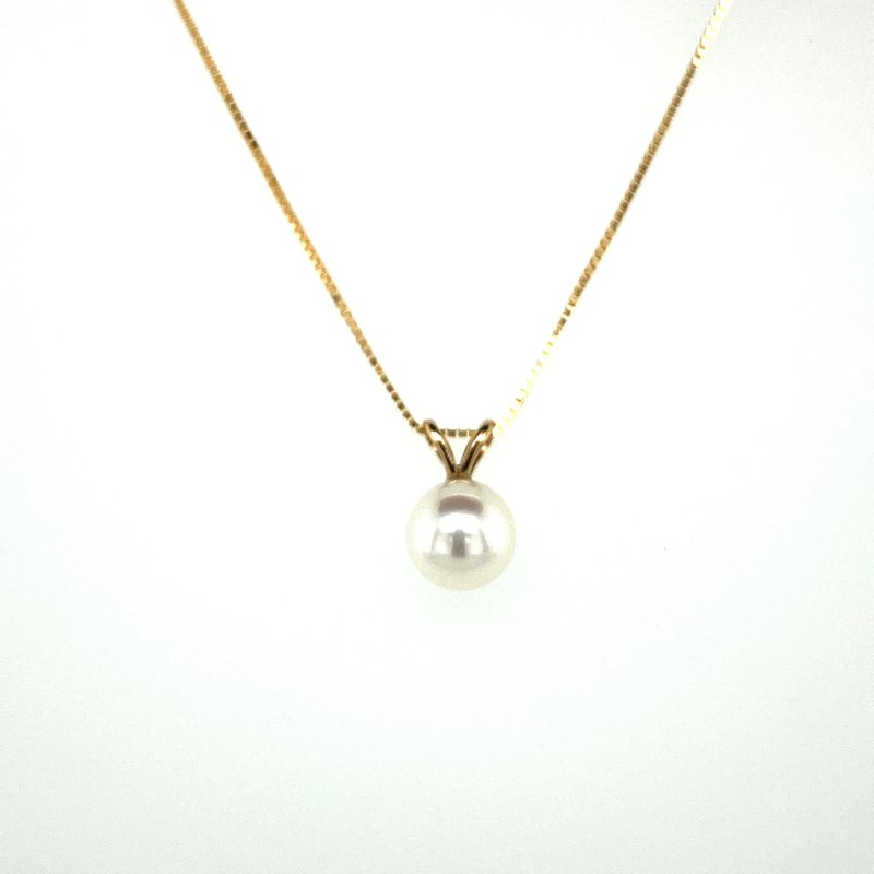 Ashley Pearl Drop Necklace 6.5mm