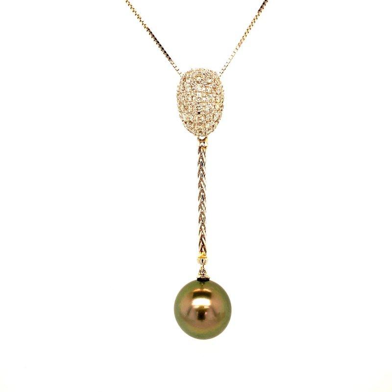 Ashley Tahitian Pearl & Diamond Necklace