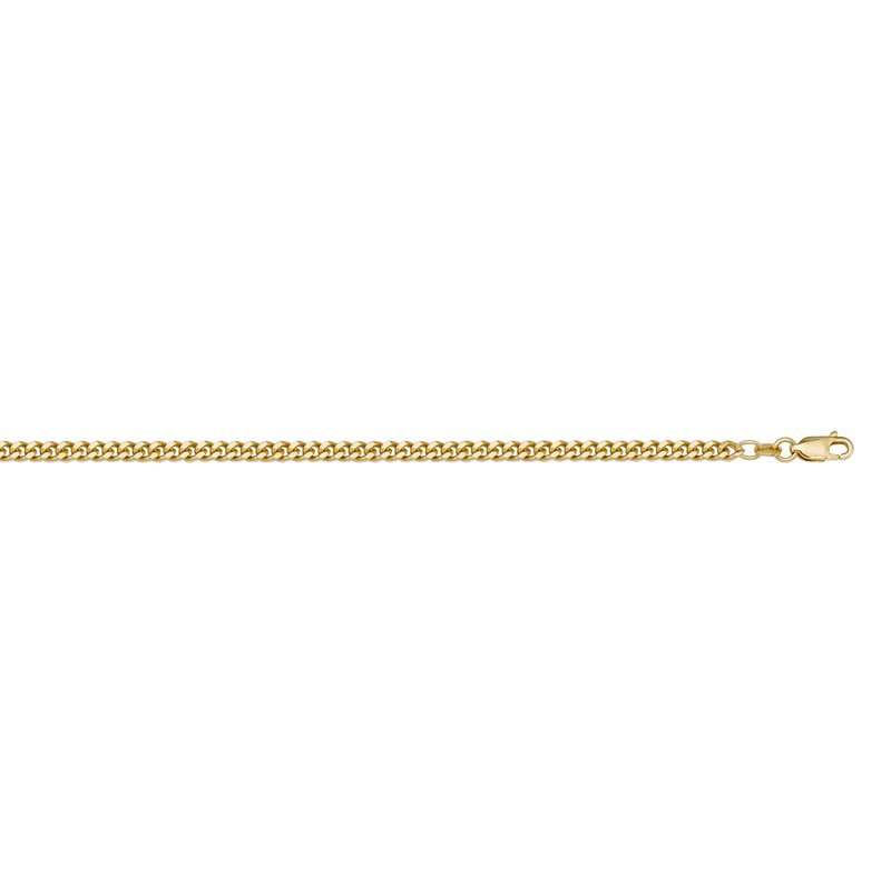 """Ashley 1.4mm Curb Chain In 10kt Gold - 16"""""""