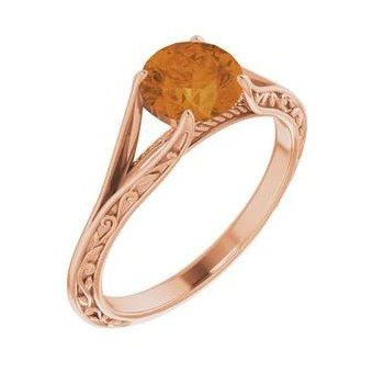 Morganite Ring Set in 14kt Rose Gold