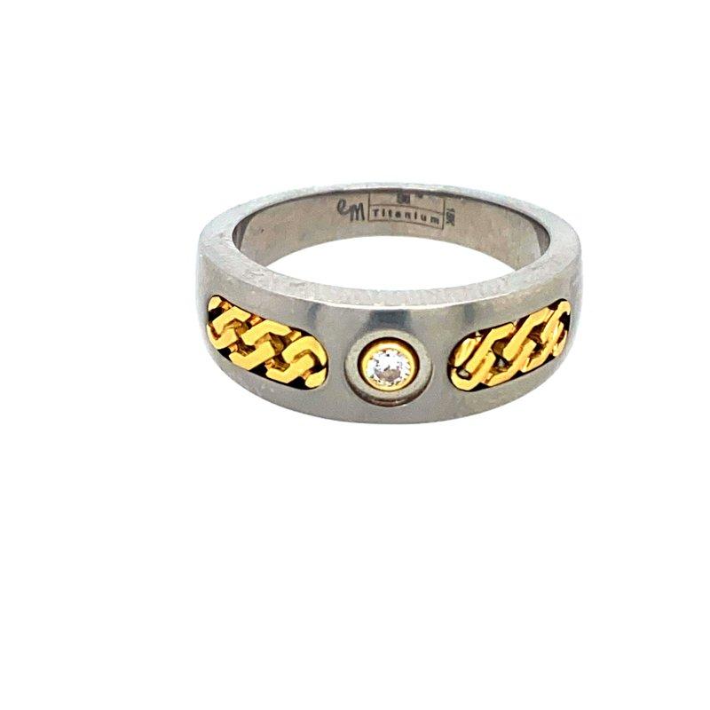 Ashley Men's Titanim Ring