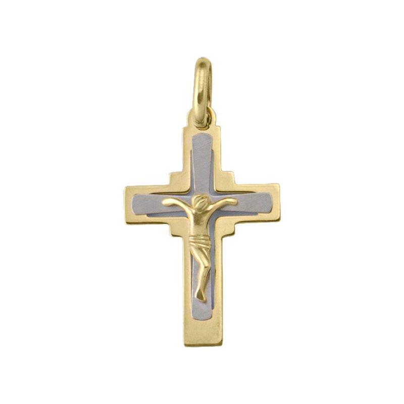 Ashley Two Tone Crucifix