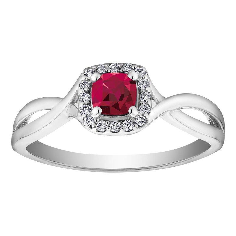 Ashley Ruby & Diamond Ring