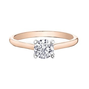 Rose Gold Diamond Set Solitaire Ring