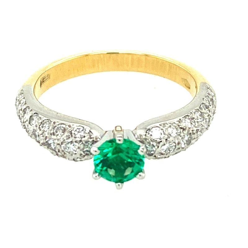 Ashley Emerald & Diamond Ring