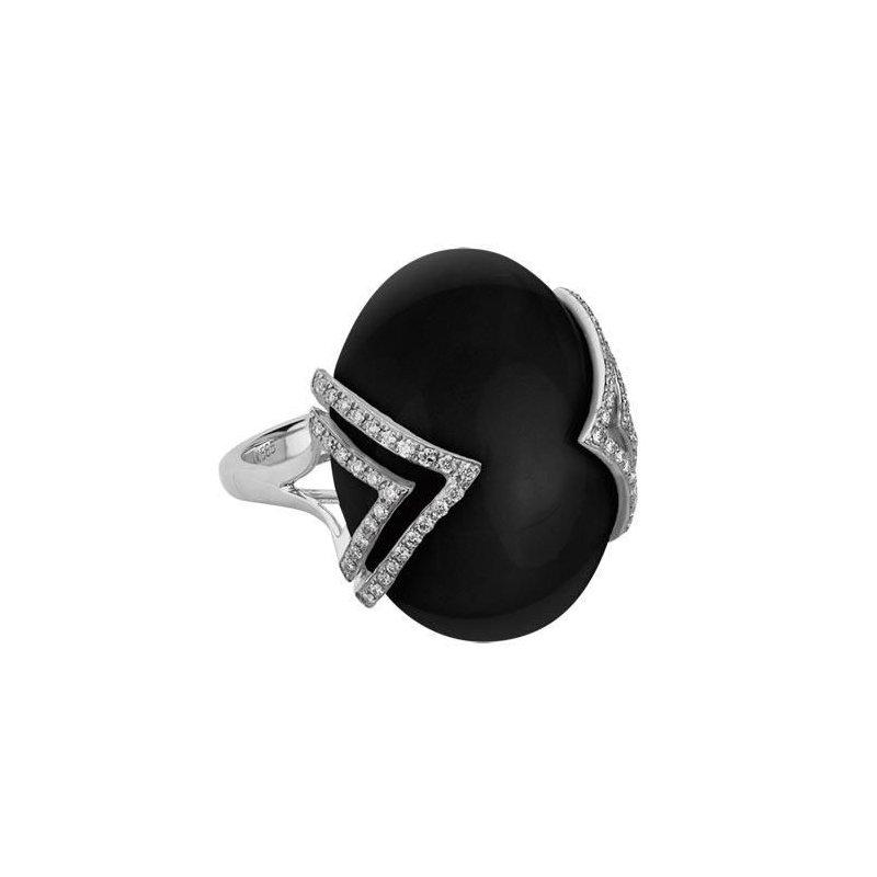 Ashley Black Onyx & Diamond Fashion Ring