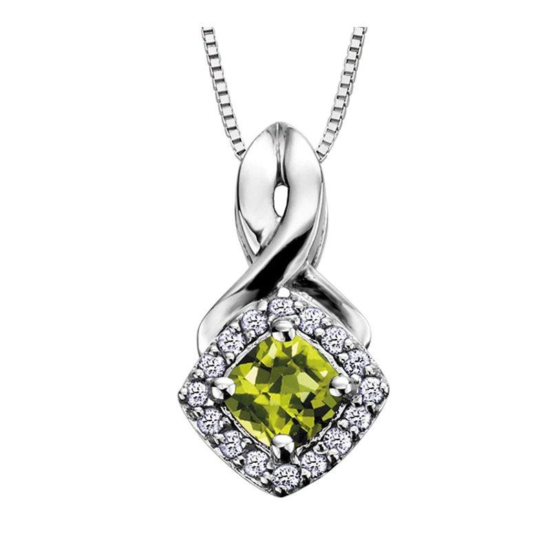 Ashley Peridot & Diamond Pendant