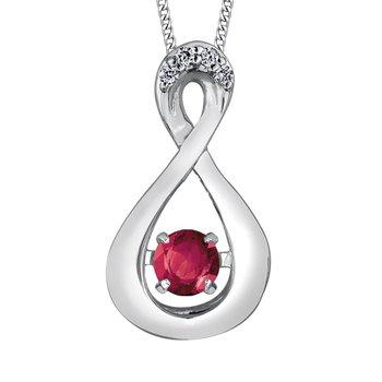 Ruby & Diamond Pulse Necklace