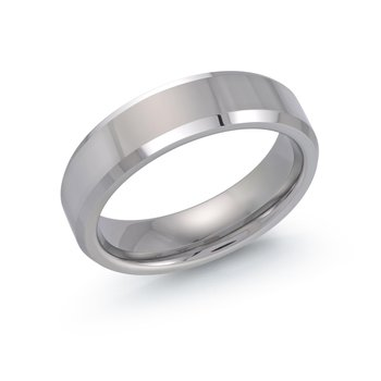 6mm Tungsten Wedding Band Size 10