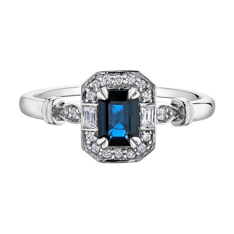 Ashley Blue & White Sapphire Ring
