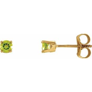 Children's Earrings - August Birthstone
