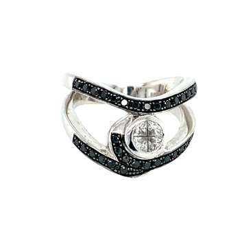 Ladies Treated Black Diamond Ring