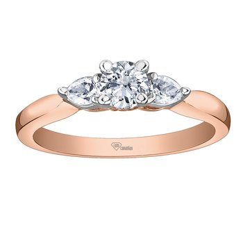 Canadian Mined & Rose Gold Diamond Engagement Ring