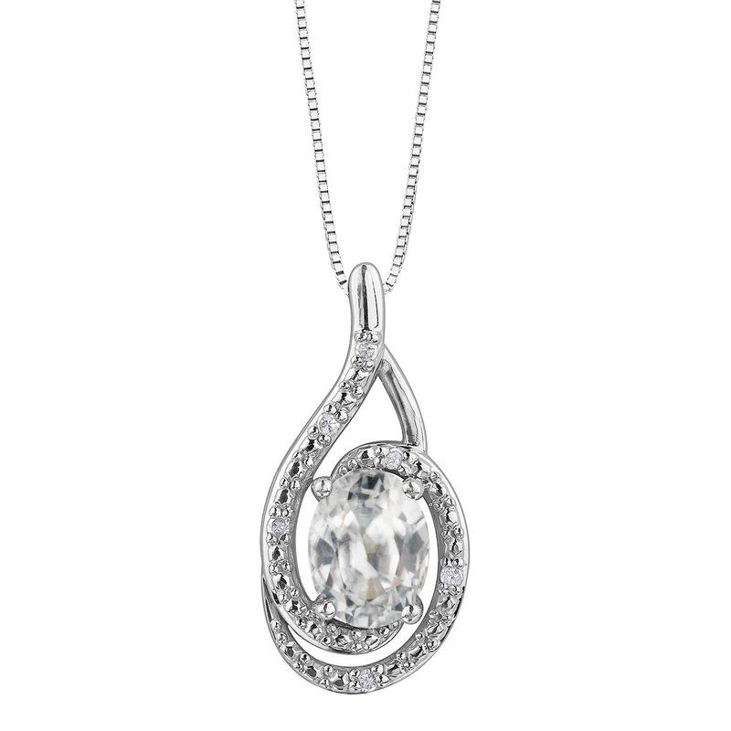 Ashley White Topaz & Diamond Necklace