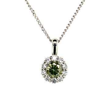 Green Diamond Necklace