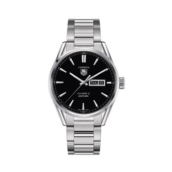 Carrera 41mm Calibre 5 automatic day-date watch