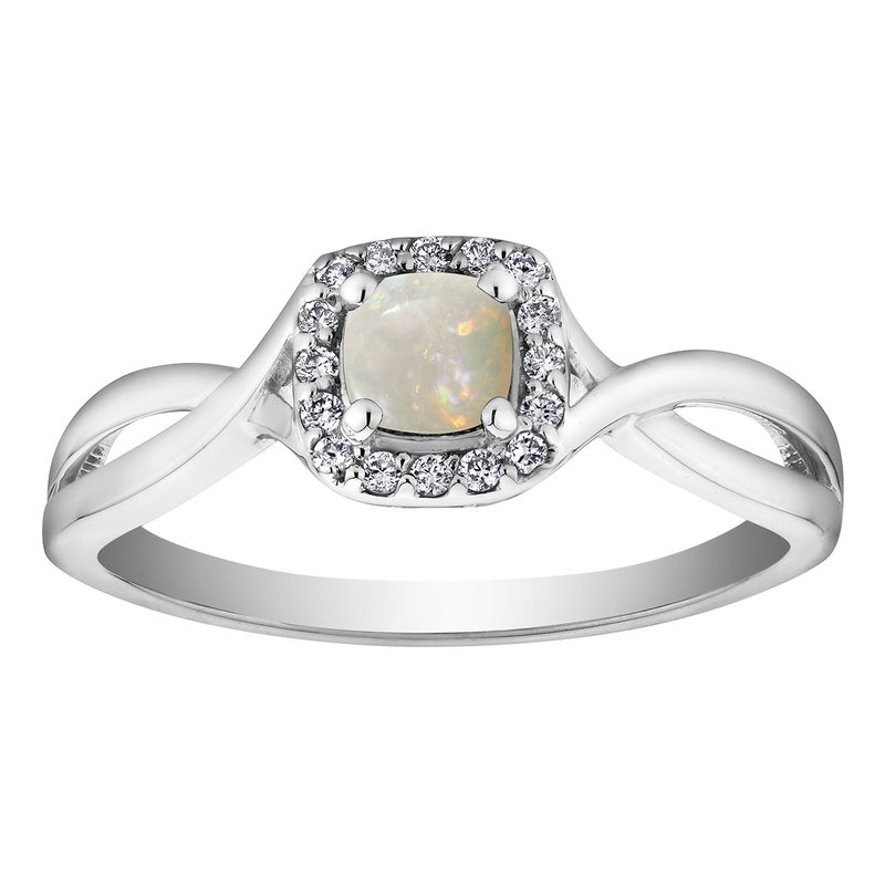 Ashley Opal & Diamond Ring