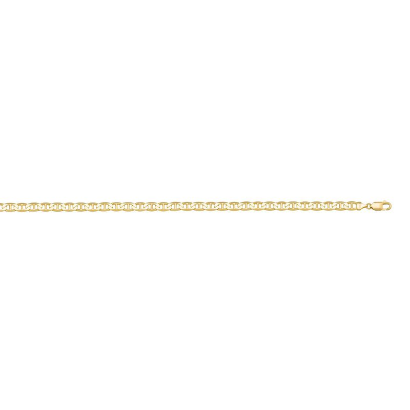 """Ashley 2.2 mm Flat Anchor Chain In 10kt Gold - 16"""""""