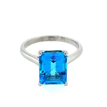 Estate Blue Topaz Ring