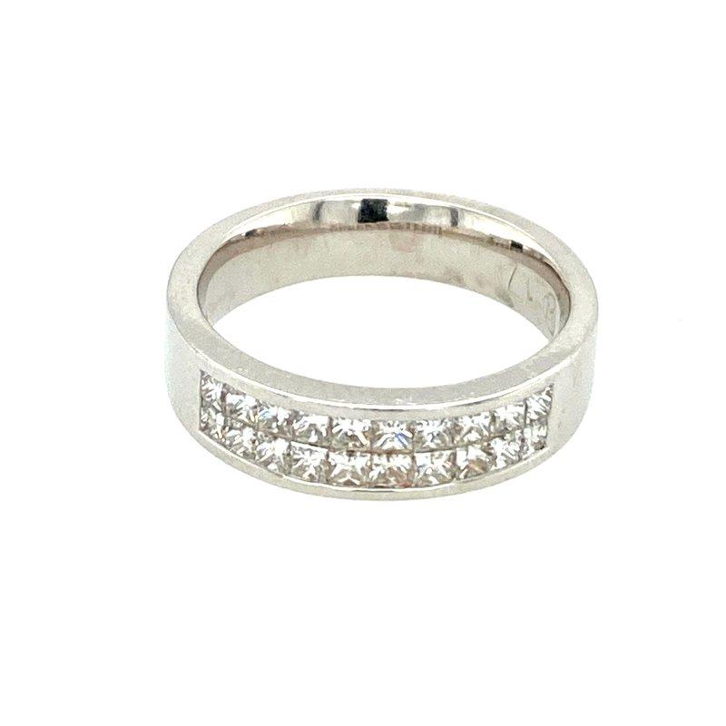 Ashley Princess Cut Channel Set Diamond Wedding Band