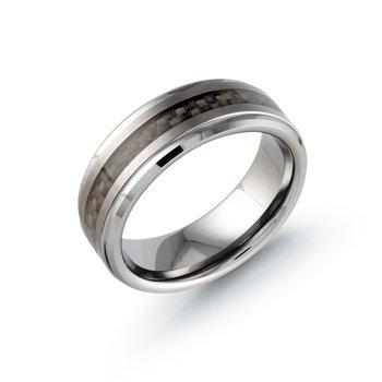8mm Tungsten Wedding Band Size 11.5