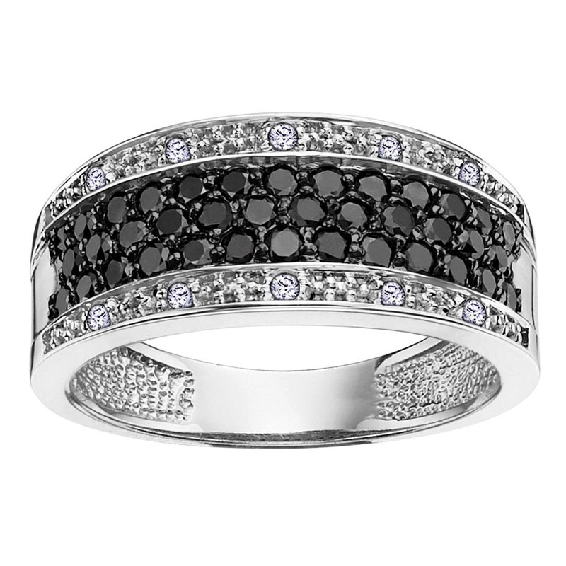 Ashley Treated Blue & White Diamond Ring