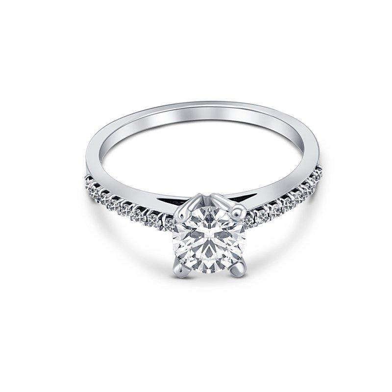 Ashley Accent Diamond Semi-Mount Engagement Ring