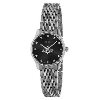 G-Timeless Slim Black Dial Stainless Steel Watch, 29mm YA1265020