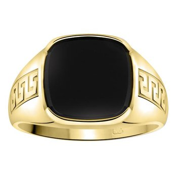Gents black onyx ring.