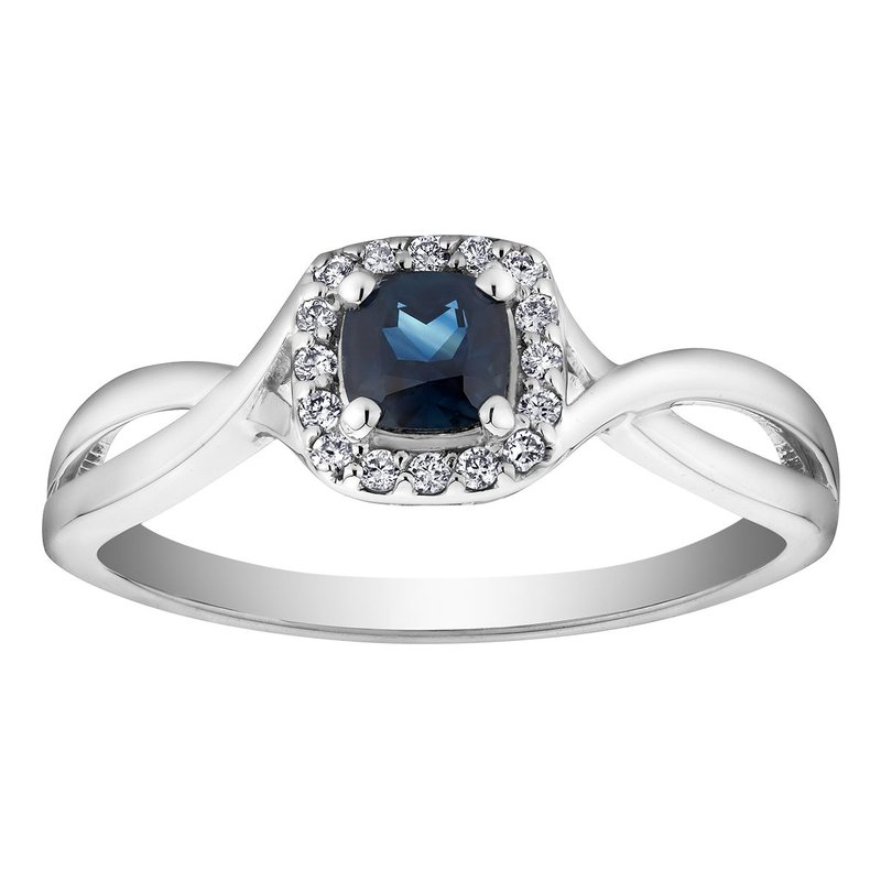 Ashley Sapphire & Diamond Ring
