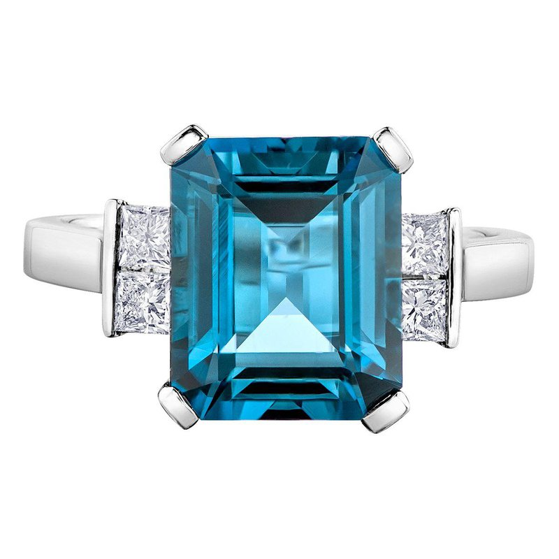 I Am Canadian Blue Topaz & Diamond Ring
