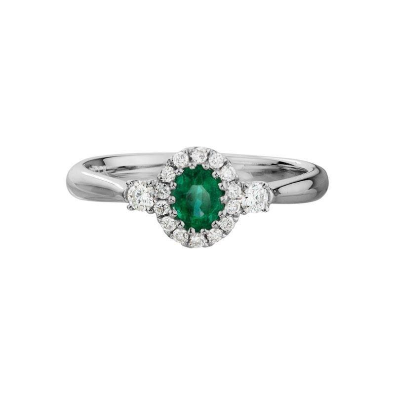 Ashley Fine Emerald & Diamond Ring
