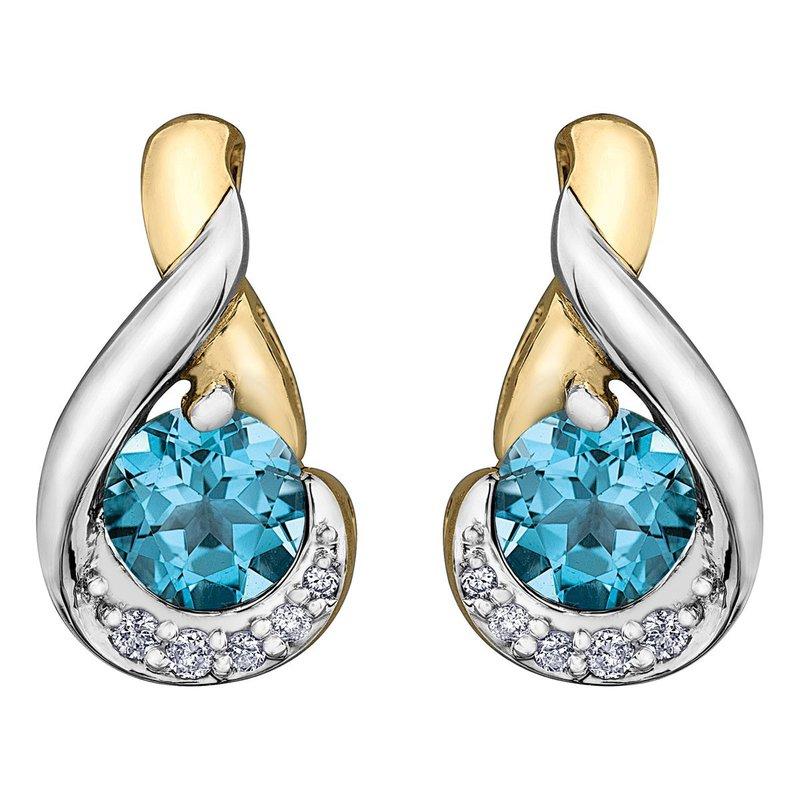 Ashley Blue Topaz Earrings