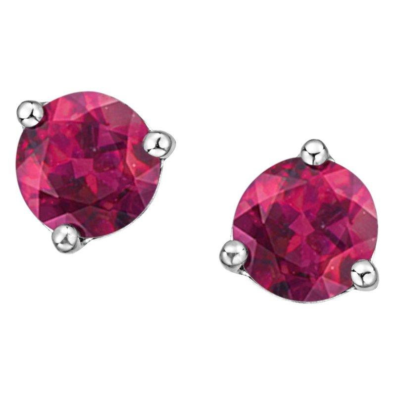 Ashley Pink Topaz Stud Earrings