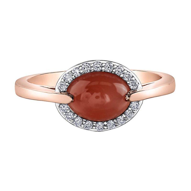 Ashley Moonstone & Diamond Ring
