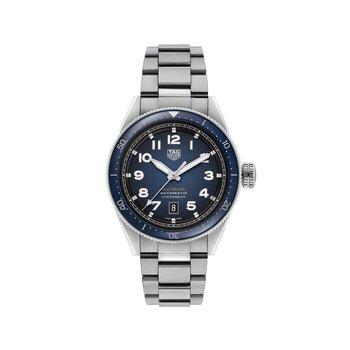 Autavia Calibre 5 COSC Certified Chronometer 42mm Blue smoked dial, blue ceramic bezel, bracelet + nato strap kit