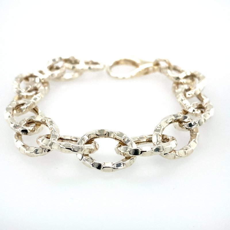 Ashley Silver Open Link Bracelet