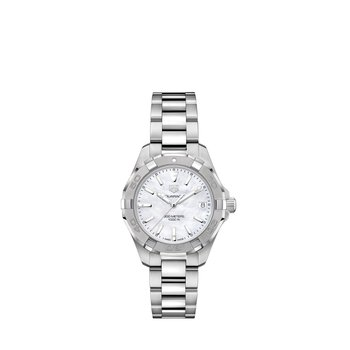 Aquaracer Quartz Watch 32mm White MOP dial, bracelet