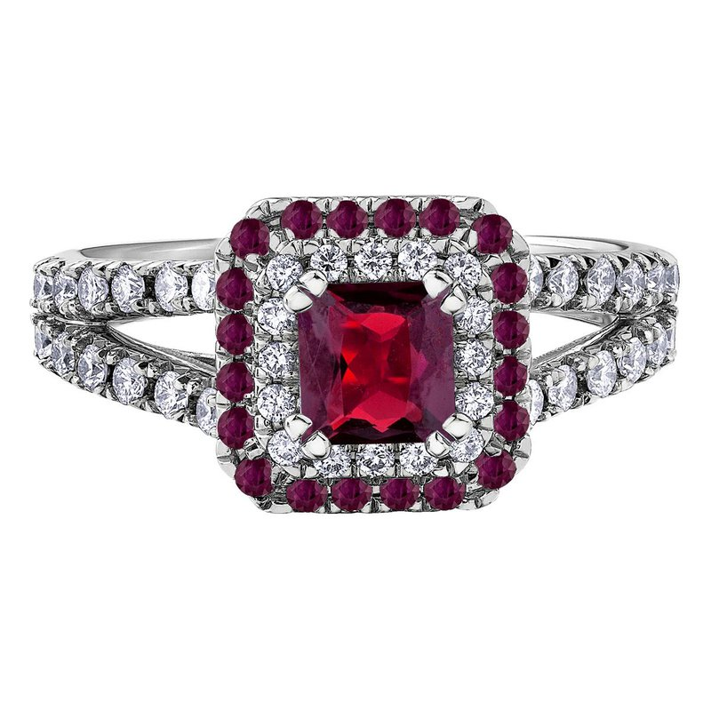 Ashley Ladies Ruby & Diamond Ring