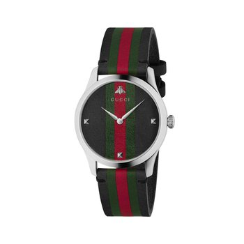 G-Timeless Tri-Color Dial Leather Men's Watch YA1264079