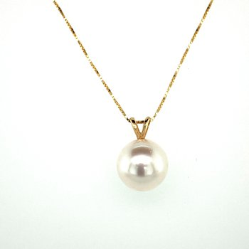 Pearl Drop Necklace 9-9.5mm