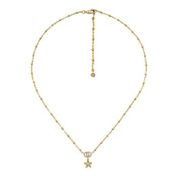 Flora 18k Gold Necklace with Diamonds
